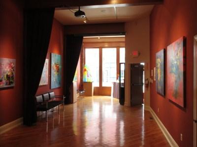 """20 North Gallery's """"Around the Corner: Aaron Bivins Abstract"""" exhibit"""