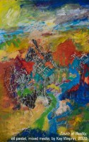 "The Arts Commission Third Award: ""Touch of Reality"" mixed media, oil pastel by Kay Weprin"
