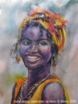 "Kingston Healthcare Purchase Award: ""Young Beauty"" watercolor by Aaron S. Bivins"