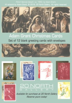 """""""Angels & Madonnas"""" Christmas cards designed by Adam Grant"""