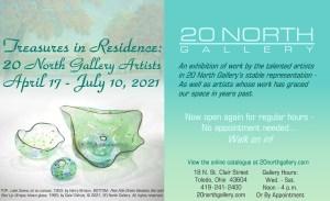 Treasures in Residence: 20 North Gallery Artists exhibit postcard
