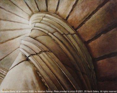 """Chambord Stairs"" painting"
