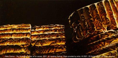 """Fallen Column - The Caravaggio Series"" painting"