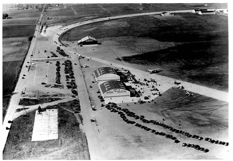 Wold-Chamberlain Field in 1928 with Speedway still visible