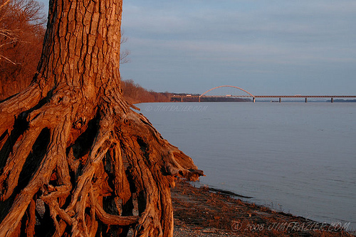 Ohio River Bridge at Paducah - copyright Jim Frazier @ http://www.flickr.com/photos/jimfrazier/103477261/