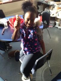 Makayla saw a candy cane!