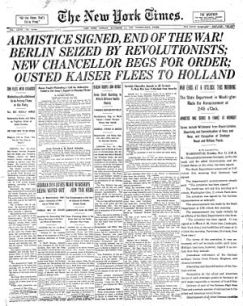 NYTimes-Page1-11-11-1918 - 1