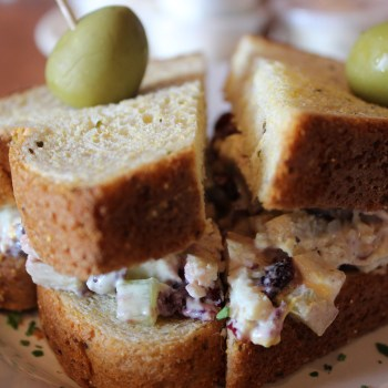 A photo of a chicken salad sandwich from Twine in Shreveport.