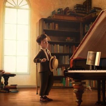 """Scene from """"The Fantastic Flying Books of Morris Lessmore"""""""