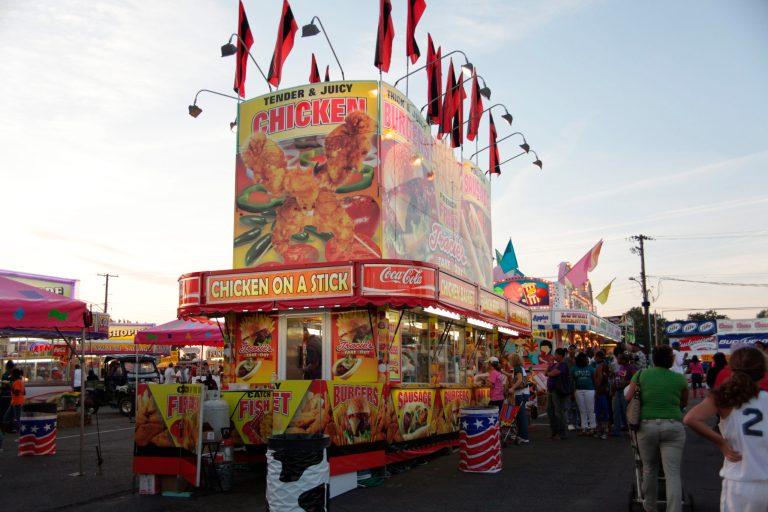 State Fair of Louisiana concessions area