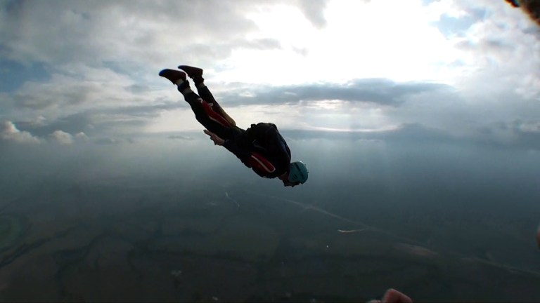 A photo of Lucas Ridley skydiving