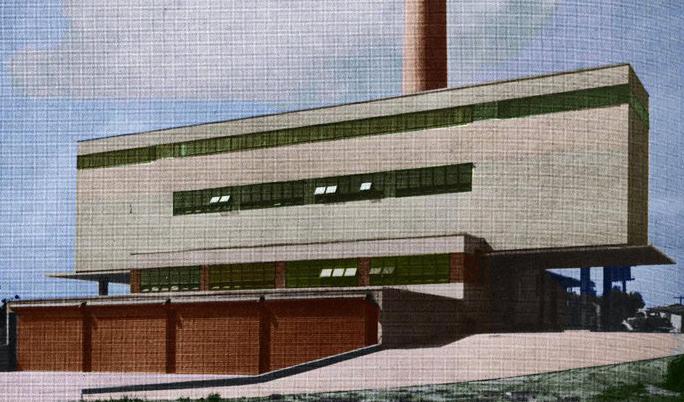 An image of Shreveport's Municipal Incinerator