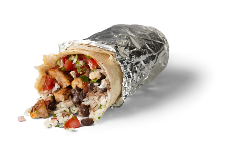 A burrito from Chipotle