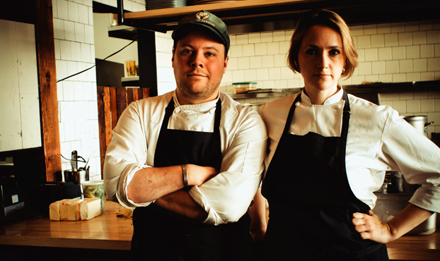A photo of chefs Sarah and Evan Rich