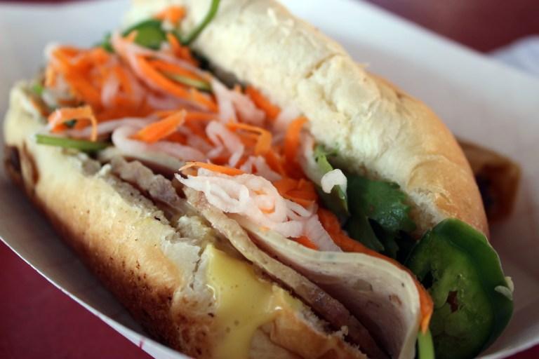 A bahn mi sandwich from Shreveport Farmers' Market