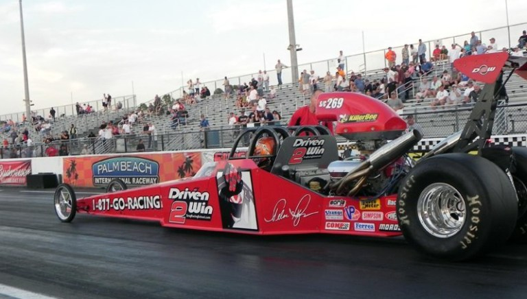 A photo of the Driven 2 Win drag racing car