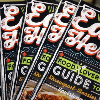 "A photo of the ""Eat Here"" brochure"
