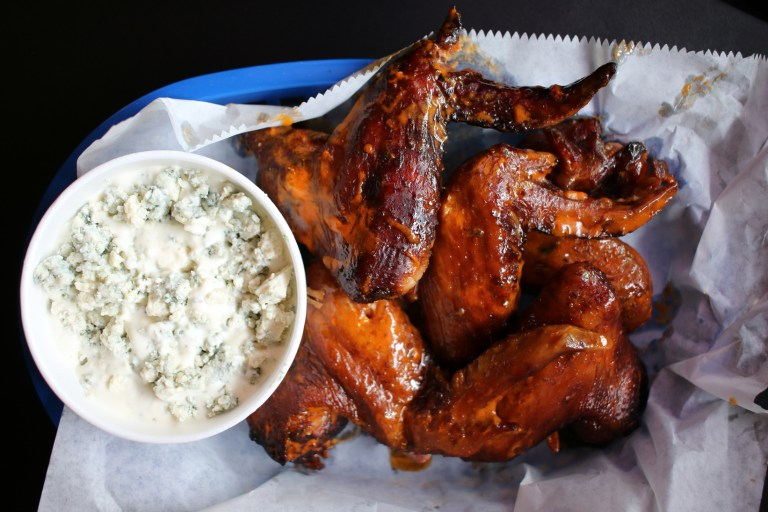 Smoked chicken wings from Blue Southern Comfort Foods
