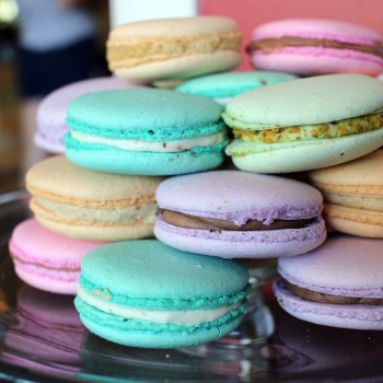 A photo of macarons