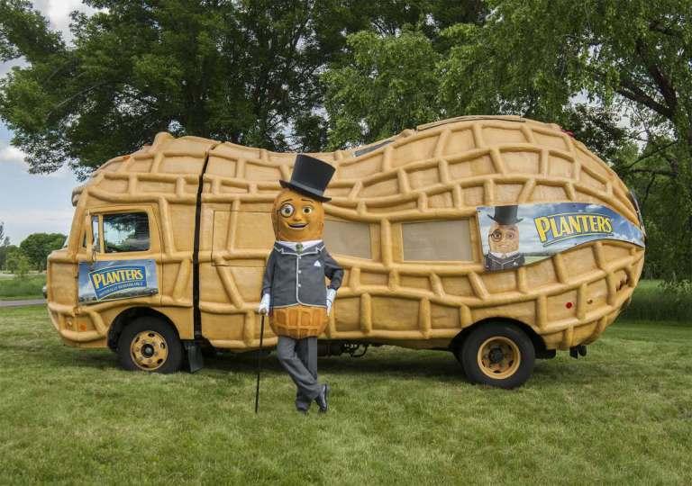A photo of Mr. Peanut