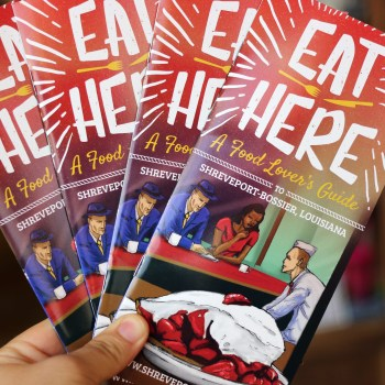 A photo of the new Eat Here guide