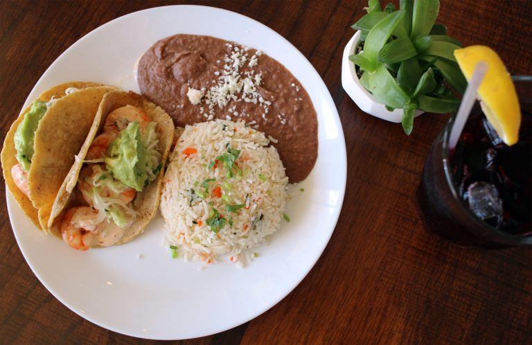 A plate of tacos from El Cabo Verde