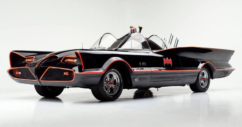 A photo of a Batmobile