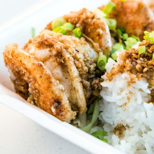 A photo of Kahuku garlic shrimp