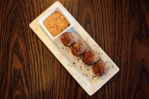 A photo of seafood fritters from Jacoma's Bistro