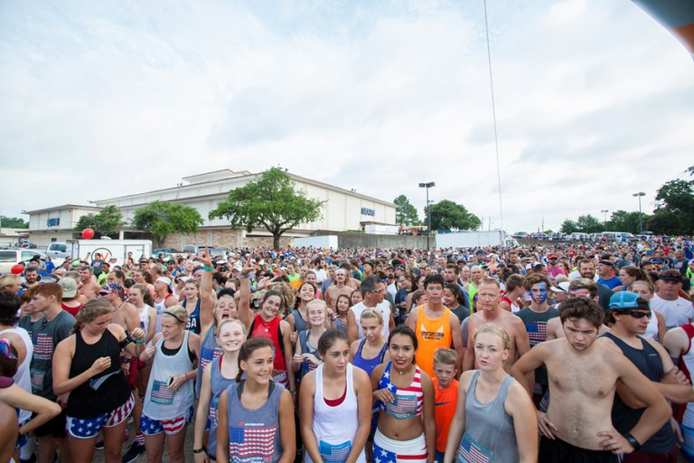 Runners line up for the Firecracker 5K in Shreveport