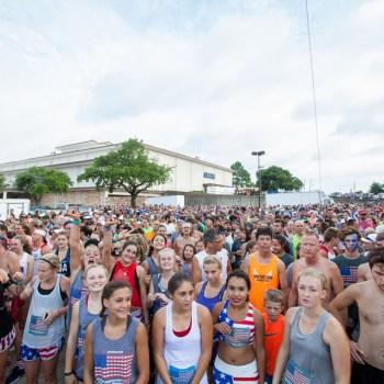 Runners line up for the Firecracker 5K in Shreveport