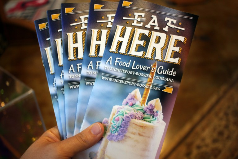 A photo of the cover of the Eat Here guide