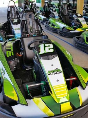 A photo of go-karts