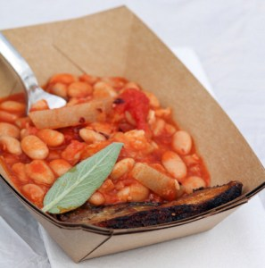 A photo of pork and beans