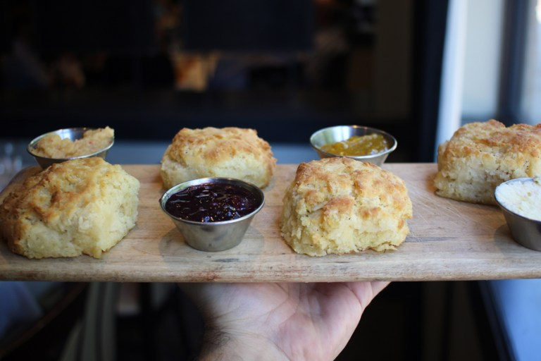 A photo of biscuits from Wine Country Bistro