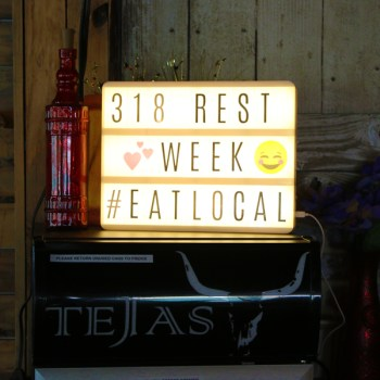 A photo of 318 Restaurant Week signage