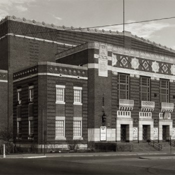 A photo of Shreveport Municipal Auditorium in the 1950s.