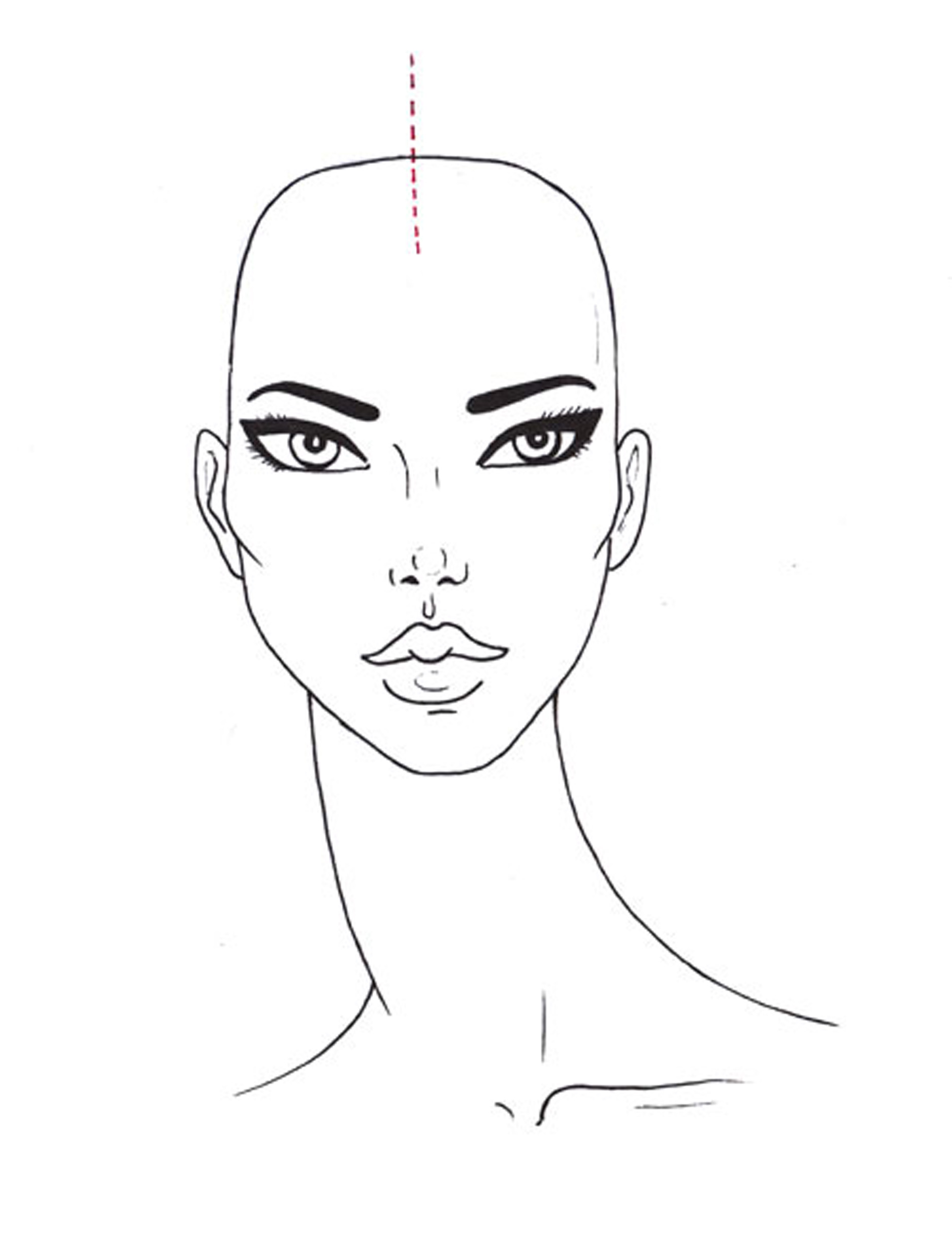 Model Face Drawing Gallery