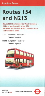 Routes 154 and N213 Leaflet, 2003