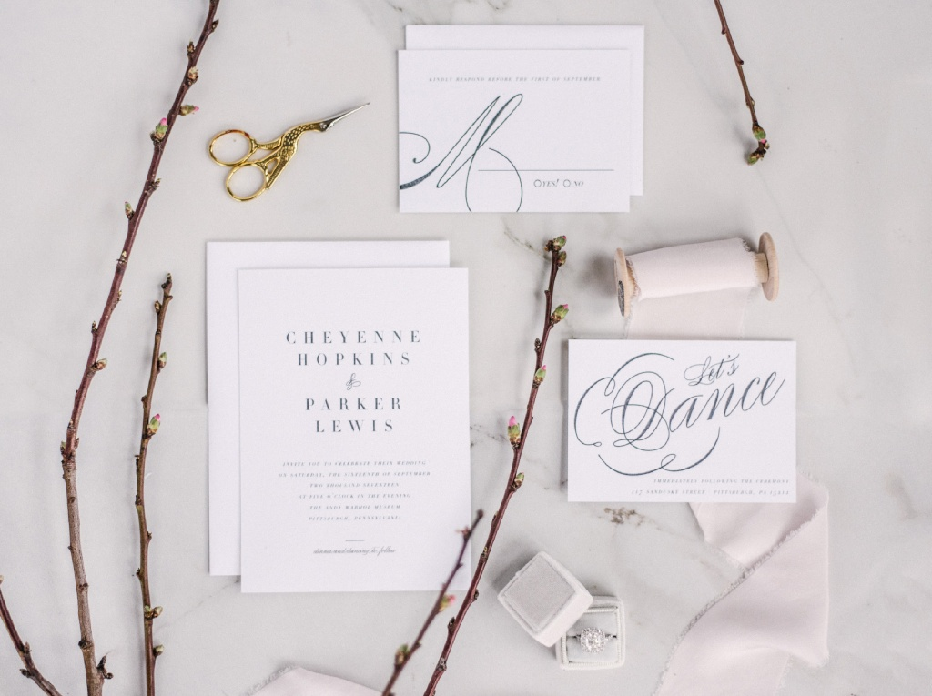 Modern Vintage Wedding Invitation | Blush Paper Co.