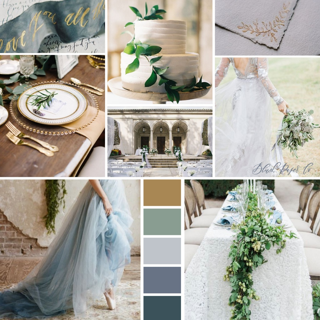 English Romance Greenery Wedding Inspiration | Blush Paper co.