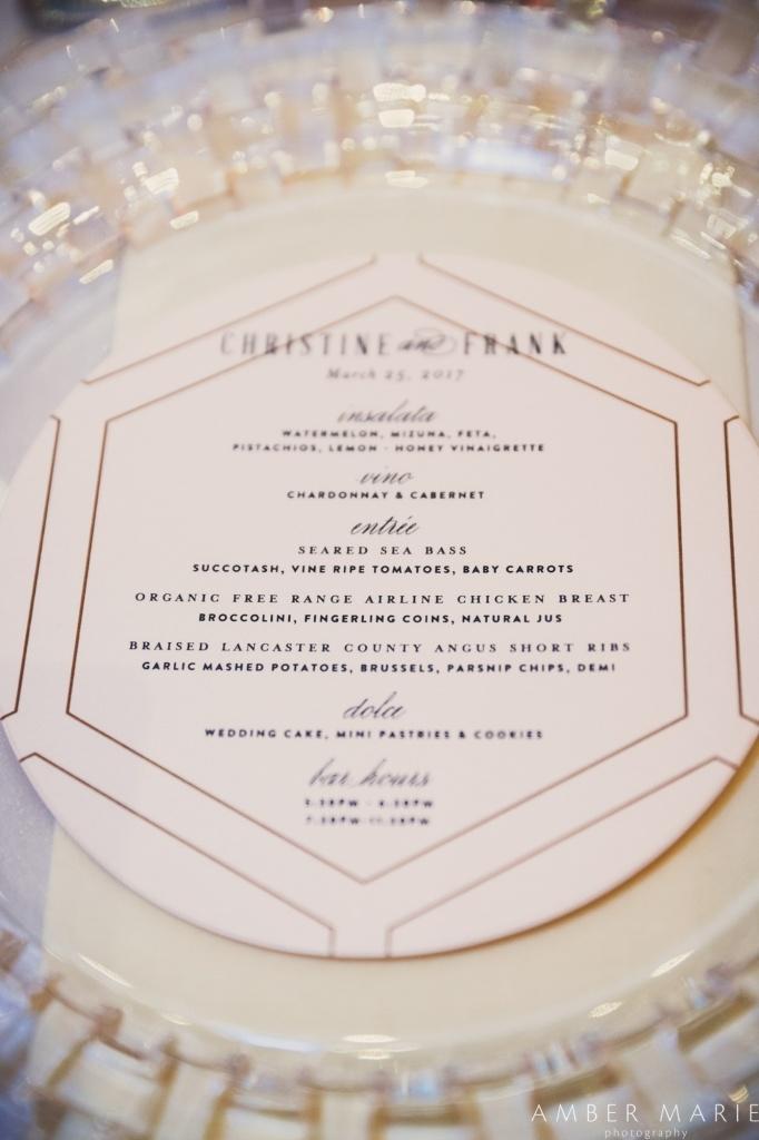 Round Wedding Menu Blush Paper Co