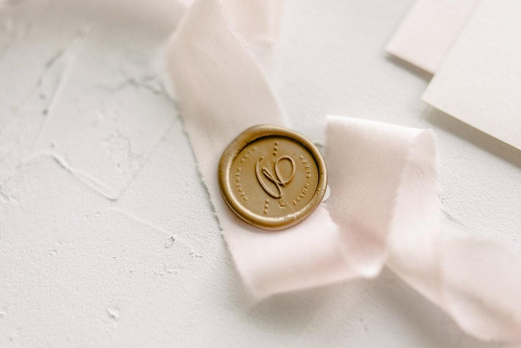 Custom Wedding Monogram Wax Seal | Blush Paper Co.