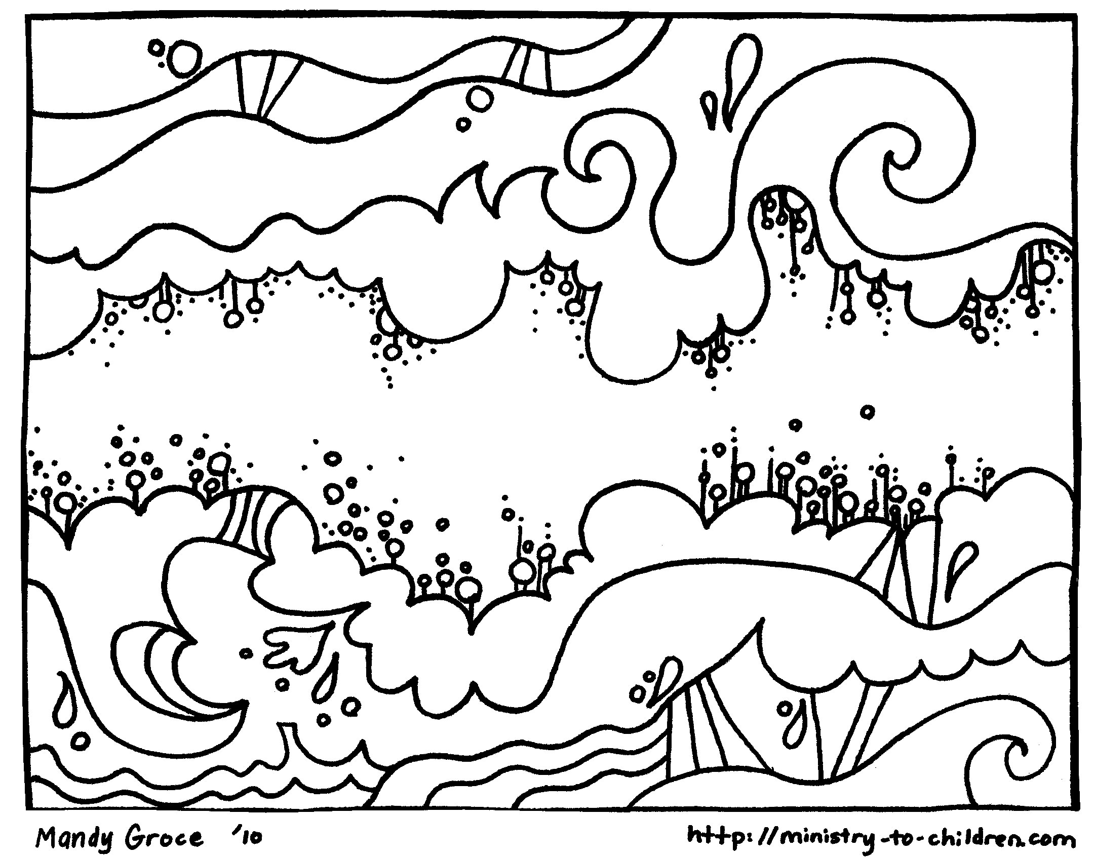 Creation Coloring Pages God Made The Sky Welcome To