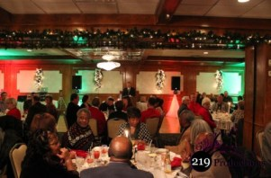 219 Productions Uplighting at Glenwood Oaks for Christmas Party
