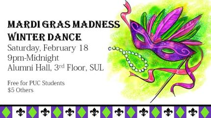 Purdue University Calumet Mardi Gras Madness Winter Dance