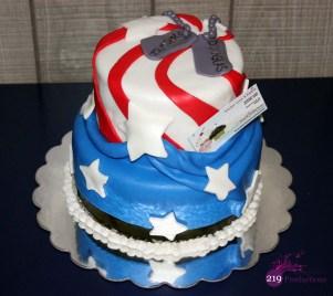 Fondant American Flag Cake - AVMRA Hammond