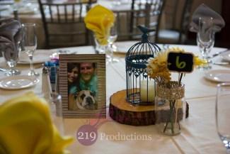 Signature Banquets Wedding Centerpiece Sunflower Bird Cage