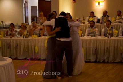 Signature Banquets Wedding DJ Sister Brother Dance Barney
