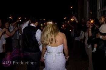 Sparklers Avalon Manor Wedding